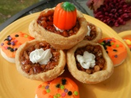 Pecan Tarts and Orange-Frosted Cookies