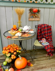 October Tea on the Deck