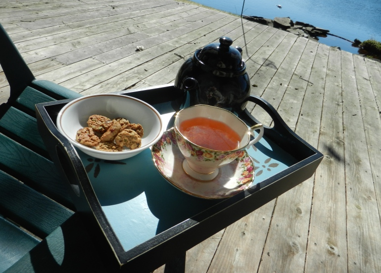 First tea outside this year