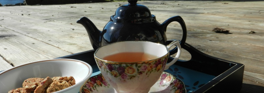 Tea with a view over-looking the stream.