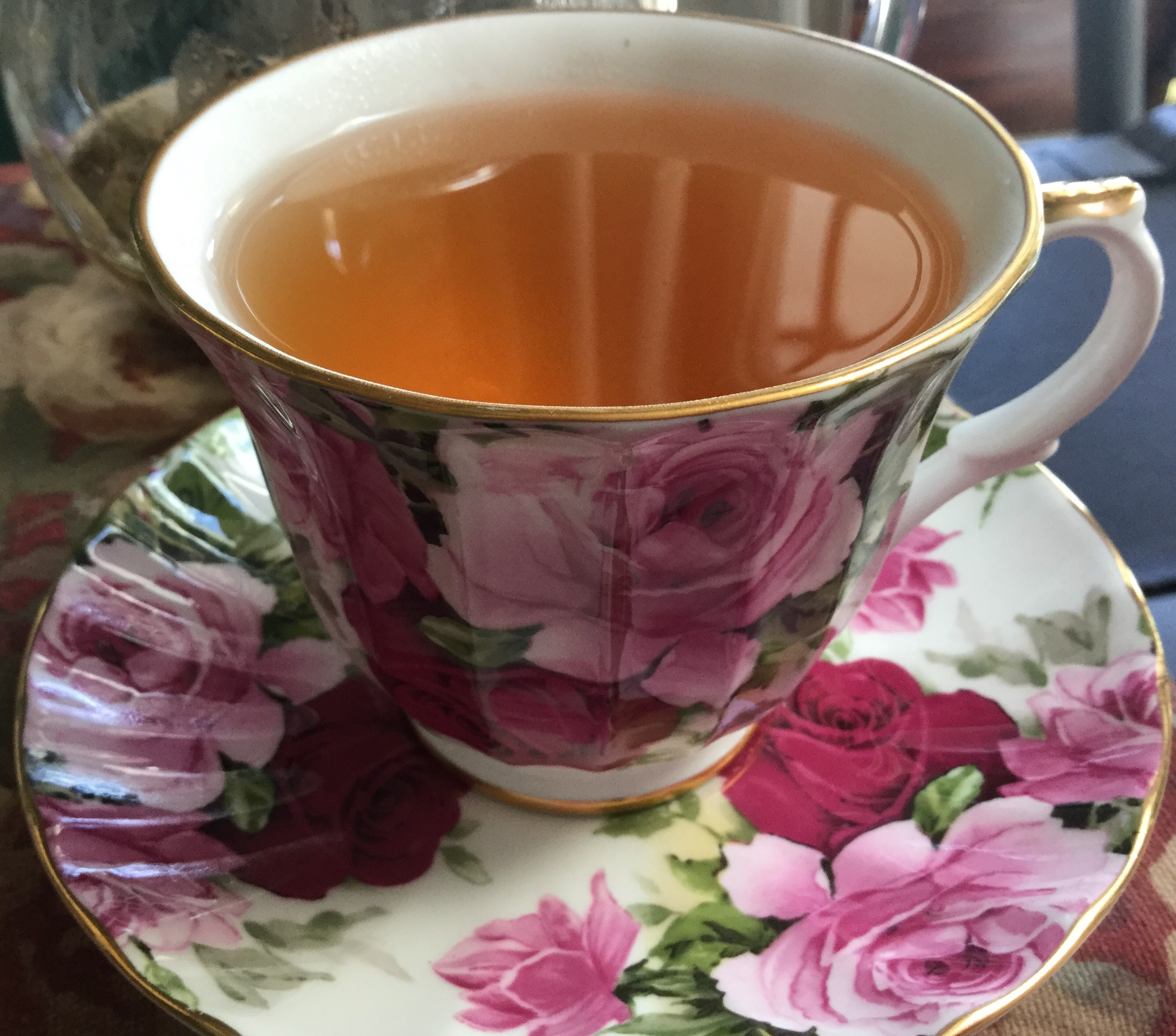 A lovely spring brew in teacup & saucer.